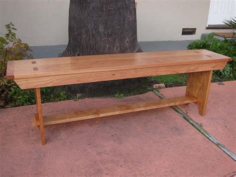 shaker bench plans shaker style bench in cherry by jackmoony lumberjocks