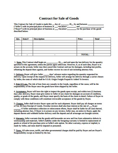 sle contract templates sales contract template free create edit fill