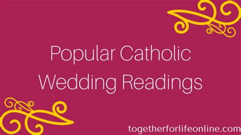mass readings for wedding catholic the most popular catholic wedding readings infographic