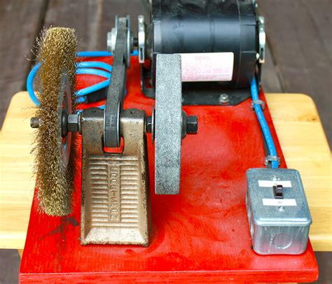 how to use bench grinder portable bench grinder using old furnace motor all