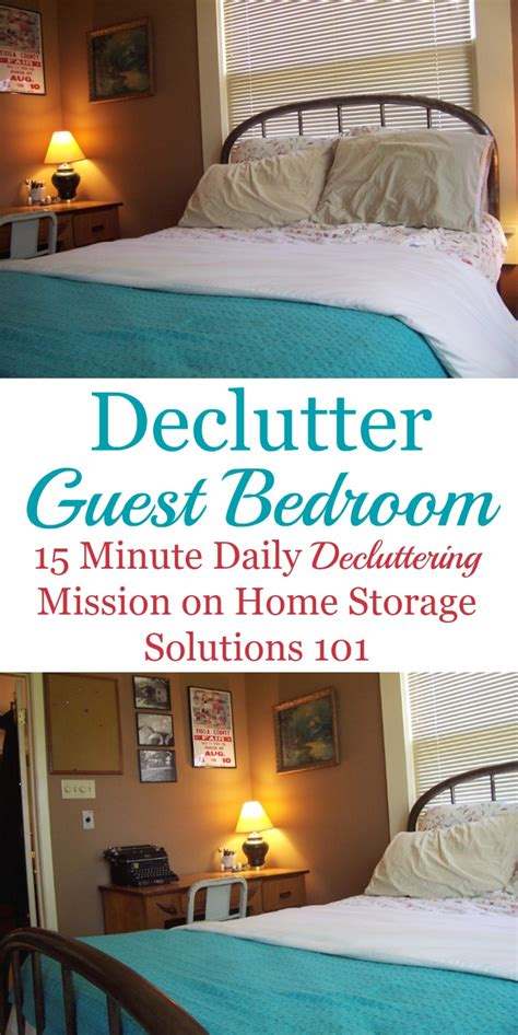 bedroom clutter solutions guest bedroom declutter mission how to clear the clutter