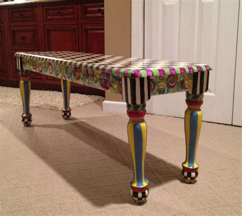 hand painted benches custom made hand painted farmers bench seat chair dining by michele sprague