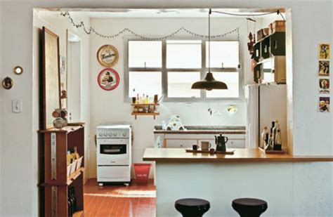 cocina americana  apartamentos pequenos