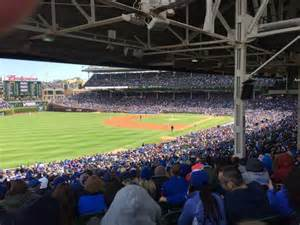 wrigley field section 202 row 27 seat 7 chicago cubs vs