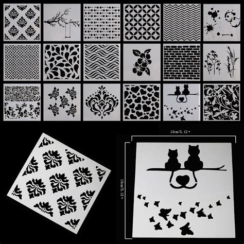layering stencils templates for scrapbooking drawing diy