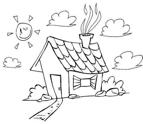 desenhos de casas para imprimir e colorir coisas pra ver