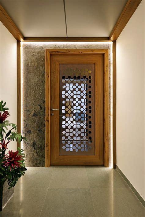 floral pattern inspires apartment interiors main door