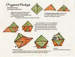 Origami Folder Pocket - how to make an origami phlet playful bookbinding and