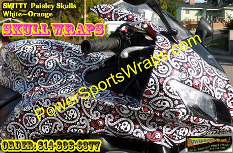 paisley pattern vinyl wrap honda cbr paisley skulls vinyl wrap bike wraps