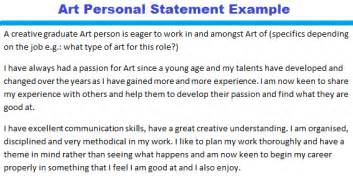 art personal statement example forums learnist org