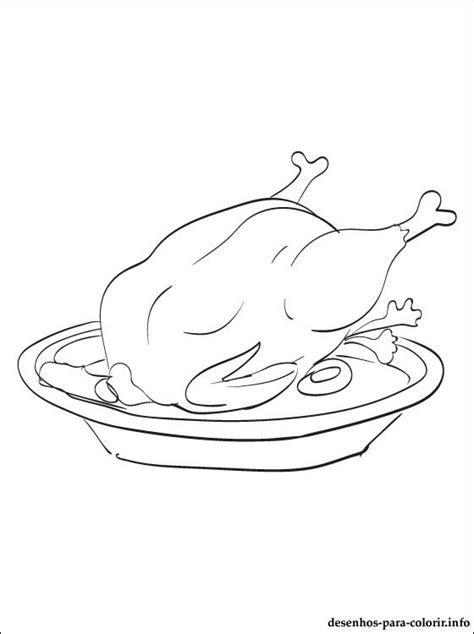 desenho carne frango pintar desenhos colorir