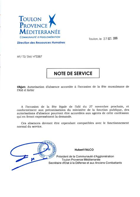 Exemple De Lettre Note D Information Exemple Note De Service Pearltrees