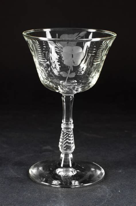 antique vintage art glass crystal glasses stemware etched crystal patterns of 1930 s 1940 s small crystal