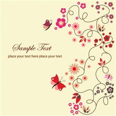 vector floral kartu ucapan vektor bunga vektor gratis