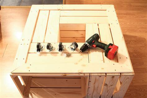 table caisse en bois on a test 233 le kit de table basse avec caisses en bois de