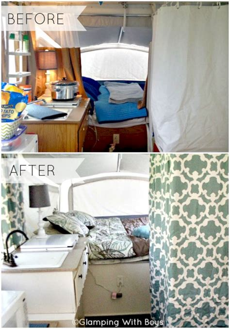 pop  camper remodel   decoor