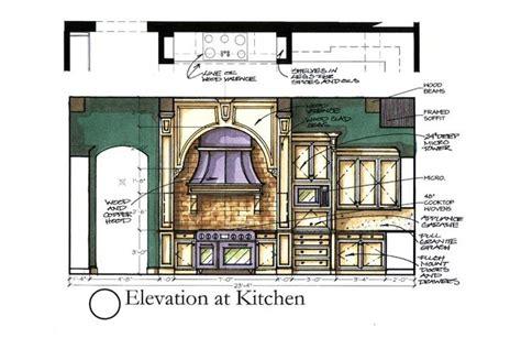 ze interior designs kitchen floor plans and elevations kitchen rendering by daedalus design studio sketch