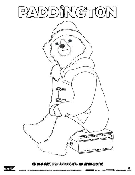 free download paddington bear coloring pages voices