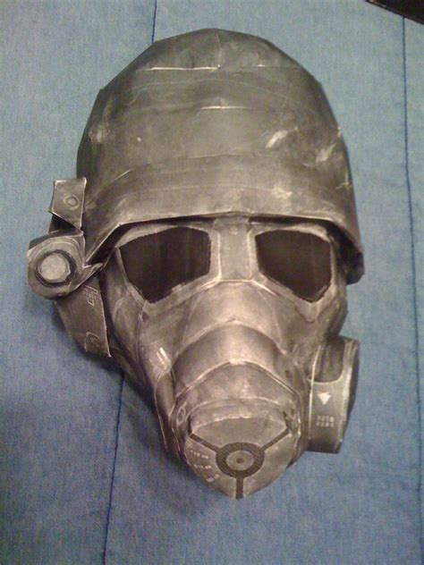 Gas Mask Papercraft - fallout ncr helmet pepakura by spenceolson on deviantart