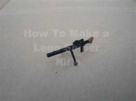 lego sniper tutorial how to make a lego sniper rifle youtube