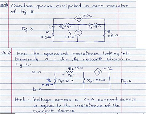 how to calculate resistor power dissipation 3 calculate power dissipated in each resistor of chegg