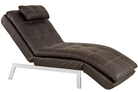 lounge futon brown leather chaise lounger futon valencia chaise serta