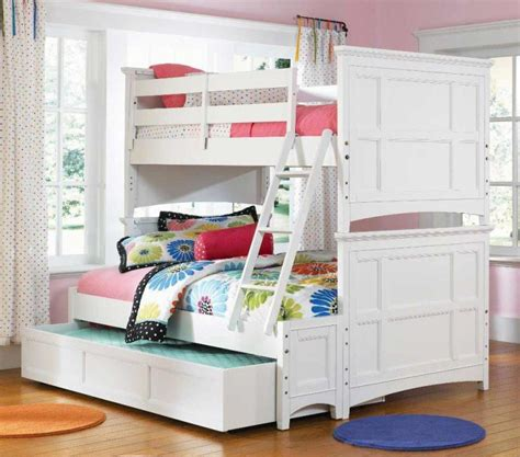 creative girls bunk beds ideas triple white loft bunk beds
