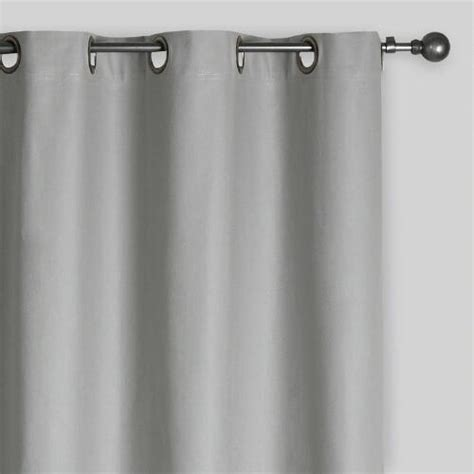 slate curtains slate gray parker grommet top curtain world market