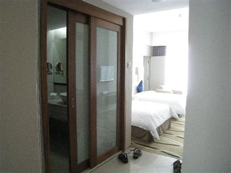 sliding door to bathroom picture of the zenith hotel