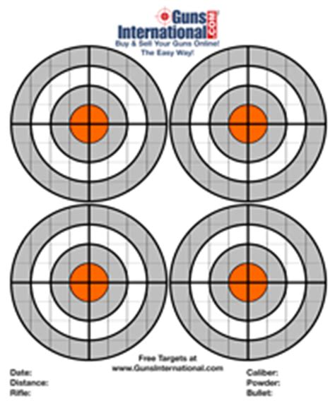 printable targets remington the gallery for gt full size printable airsoft targets