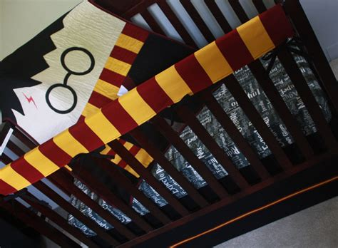 harry potter baby bedding harry potter baby beddingharry pottercustom crib by bedhogshop