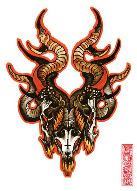 tattoo design colored goat images designs