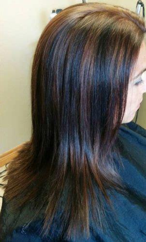 braune haare mit schwarzen straehnen allefrisurende