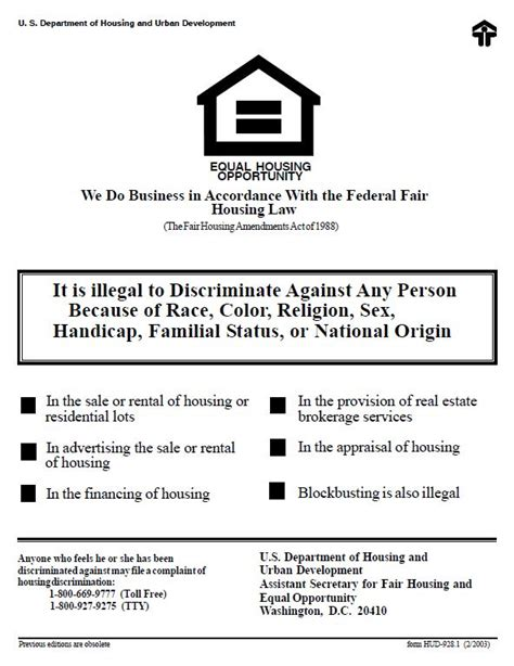 printable equal employment opportunity poster fair housing act what it means to landlords real