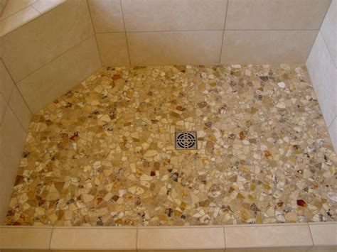 pebble shower floor pebble shower floors for tiled showers how to install