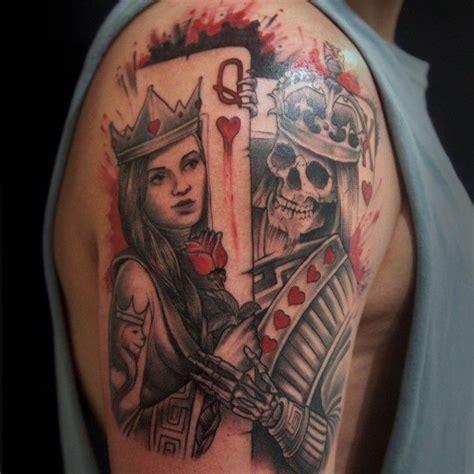 90 spielkarte tattoos f 252 r m 228 nner lucky design ideen