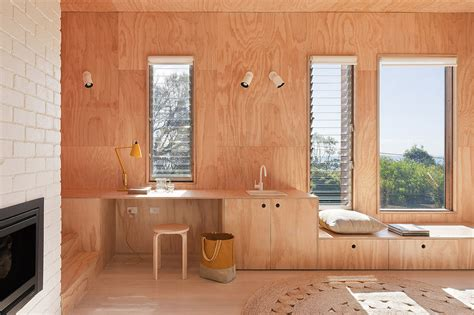 plywood interior design awesome timber beach shack finished in plywood modern