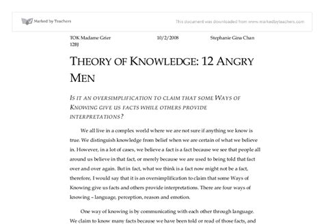 essays towards a theory of knowledge classic reprint books 12 angry essay twelve angry post reading