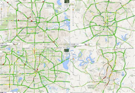 dallas texas traffic map the four largest texas cities at hour one of these things is not like the other