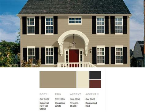 exterior color scheme from the lush forests of the