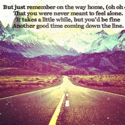on the way home lyrics by mayer other that i