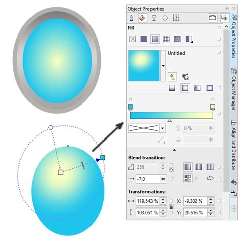corel draw x7 gradient fill how to create and use gradients in coreldraw