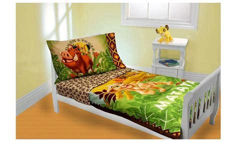 Set Mk Simba Set Momkid Simba disney king 4 toddler bedding set groupon