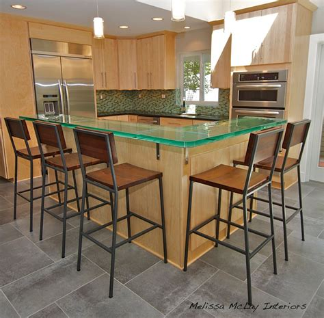 Houzz Kitchen Island Lighting by Kitchen With Glass Counter Grey Tile And Maple Cabinets