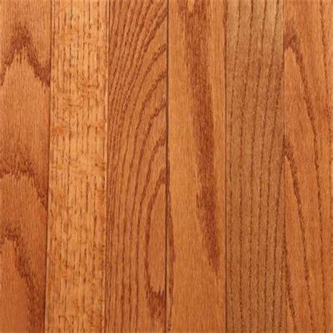 Prestained Wood Flooring by Bruce Gunstock Oak 3 4 In Thick X 2 1 4 In Wide X Random