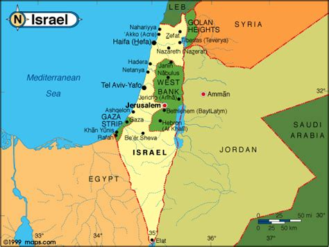 map of isreal maps of israel free printable maps