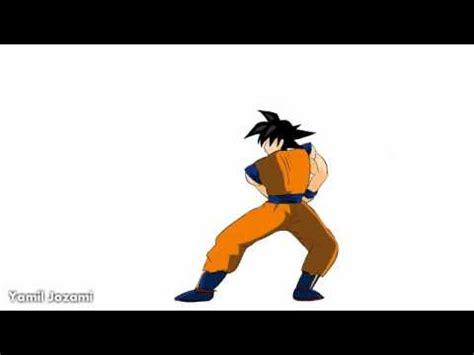 imagenes de goku moviendose animacion tutotial goku primera parte youtube