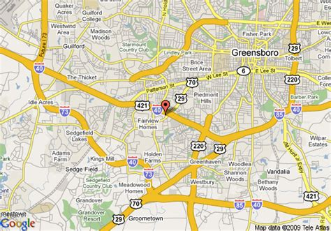 days greensboro map of greensboro days inn greensboro