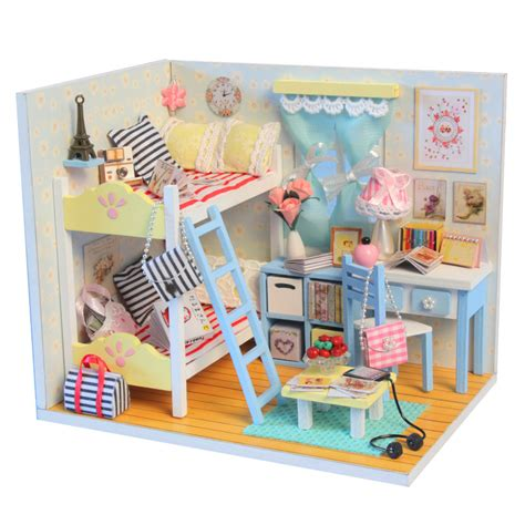 themes of dolls house buy miniature doll house bedroom theme wood material with light for girls free shipping