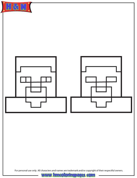 steve vs herobrine coloring page h m coloring pages